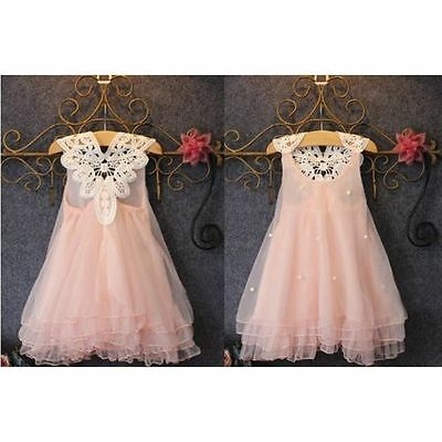 Flower Girls Kids Baby Princess Dress Pageant Wedding Party Lace Tutu Dresses