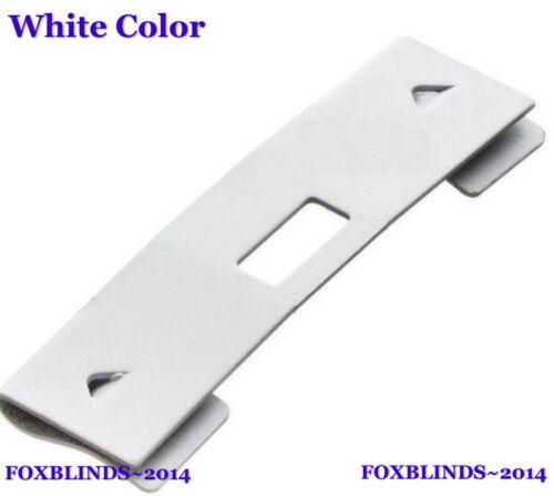 25 Pack-Vertical Blind Slat Clips Saver DIY Fix Repair Curved Zinc, White, Ivory