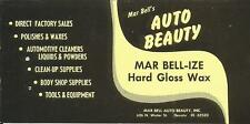 Label-AUTO BEAUTY,Mar Bell-ize,Decatur,IL.Automotive reconditioning supplies,wax