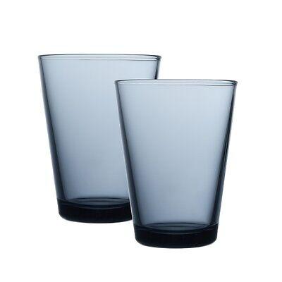 Iittala Kartio Trinkglas - regenblau - 40 cl - 2er Set - NEU