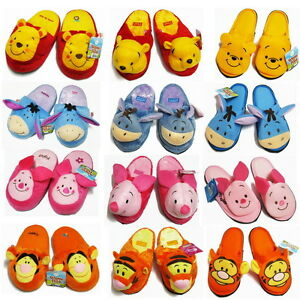 Women Men Adult Winnie the Pooh Eeyore Tigger Piglet Plush Slippers ... 4efec419d4