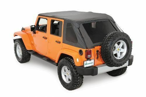 Rampage Frameless Trail Top w/ Tint 07-17 Jeep Wrangler JK Unlimited 4 Dr 109835