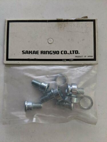 NOS Vintage Road MTB Sakae SR Chainring Triple Sprocket Bolts /& Spacers Japan