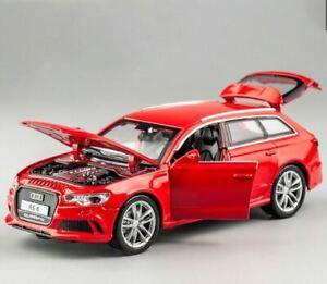Rojo-Audi RS6 alto detalle 1:32 Escala Modelo Diecast-Coche de juguete