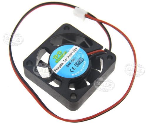 24V Lüfter 40*40*10mm 3D Drucker PVC Kühler Fan 2Pin für RepRap Mendel Prusa