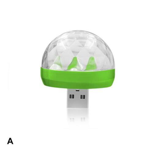 Mini RGB LED Car USB Atmosphere Light DJ Colorful Music Sound Lamp for Party