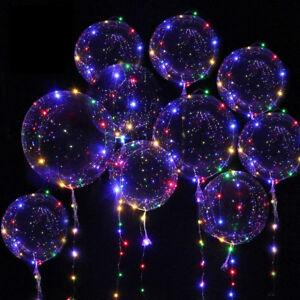 12tlg Led 18 Balloon Leucht Luftballon Helium Hochzeit Weihnachten