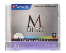 1 Pack Verbatim M-Disc BD-R XL 100GB Bluray 4X Speed Inkjet Printable 1000 Years