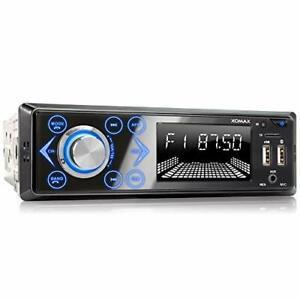 Poste Autoradio Bluetooth 4x60W Voiture FM Poste Radio Lecteur MP3 USB LED DIN1