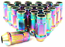 CZR NEO CHROME 20PCS OPEN ENDED EXTENDED LUGNUT HONDA ACURA TOYOTA SCION MAZDA