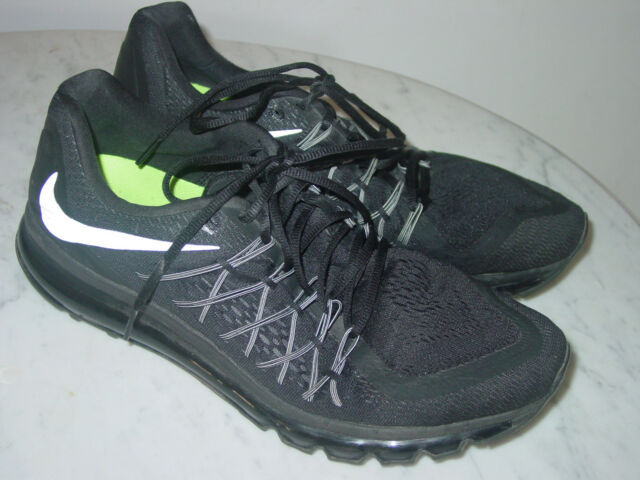 the latest eb449 4025f 2014 Mens Nike Air Max 2015 Black White Running Shoes! Size 13  160.00