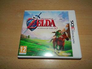 NINTENDO-3DS-Legend-of-ZELDA-Ocarnia-of-Time-komplett-amp-neuwertig