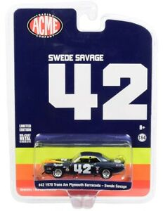 Greenlight-Swede-Savage-039-s-42-1970-Plymouth-Trans-Am-Cuda-1-64-for-ACME-51264