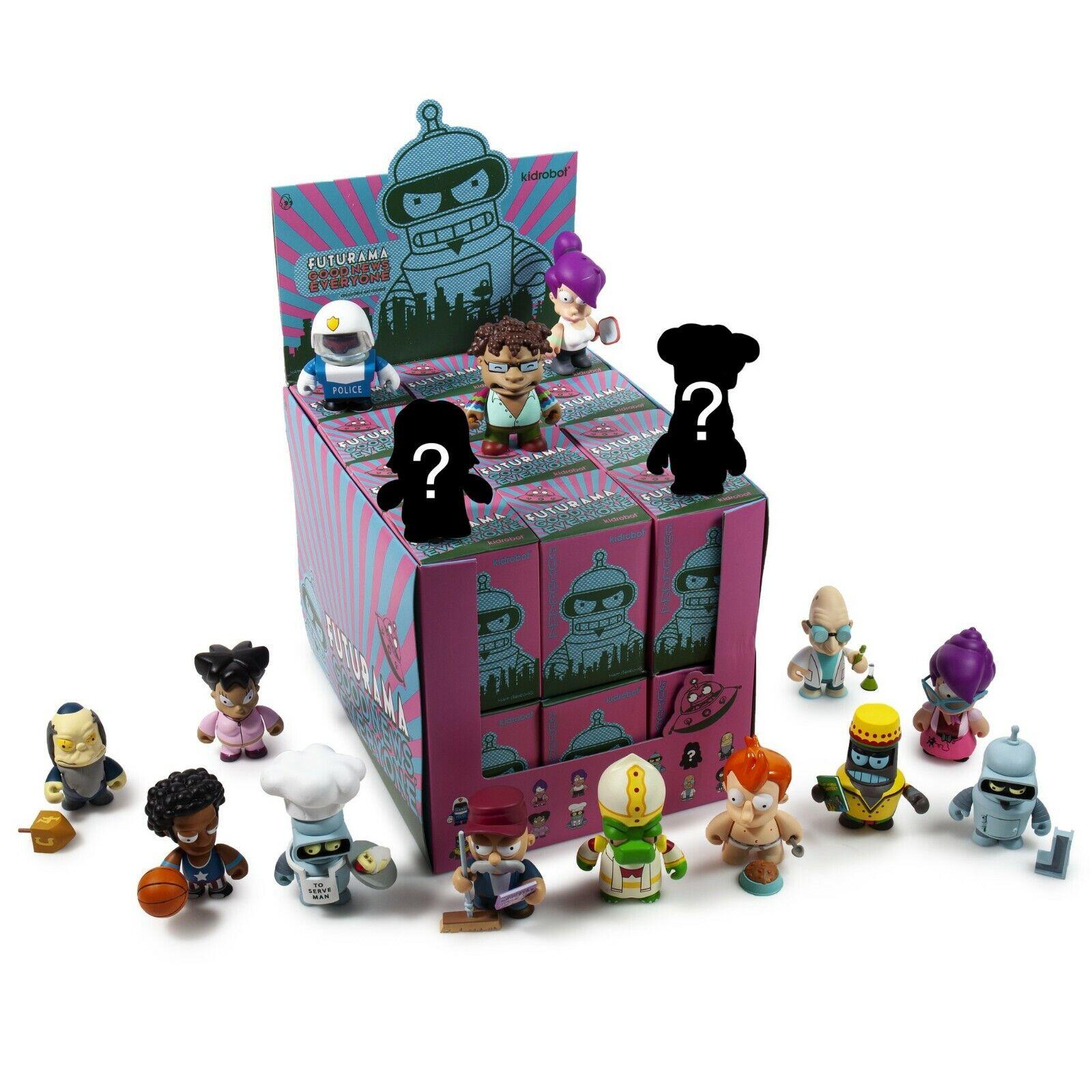 Kidrobot Futurama buenas noticias todos de 3 Pulgadas Figura Sellada Caja de 24 cajas ciegas