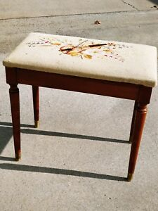Sensational Details About Best Antique Solid Mahogany Needlepoint Tapestry Window Piano Bench 23 M13 Ocoug Best Dining Table And Chair Ideas Images Ocougorg