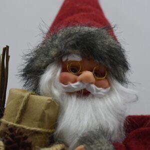 Babbo Natale 40 Cm.Babbo Natale Da Puntale Per Albero Di Natale 40cm Decorazioni Addobbi Natalizie Ebay
