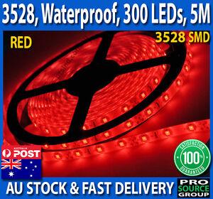5M-Bright-RED-3528-SMD-300-LED-Flexible-Waterproof-12V-Led-Strip-Lights-Car-Boat