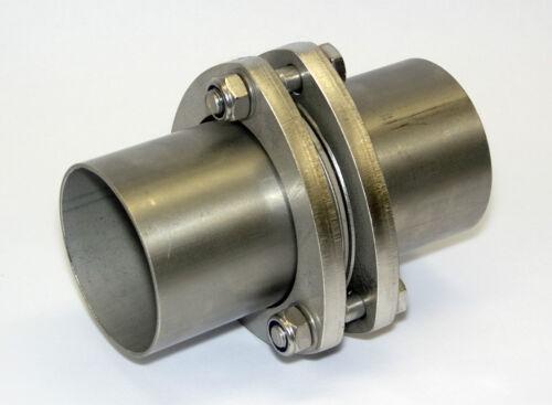 Auspuff Edelstahl Dreiecksflansch Kupplungsstück 63,5mm Rohrverbinder Brennring