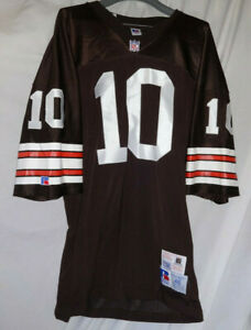 Vintage-CLEVELAND-BROWNS-10-Custom-Game-Style-NFL-Football-Jersey-Sz-48-RA