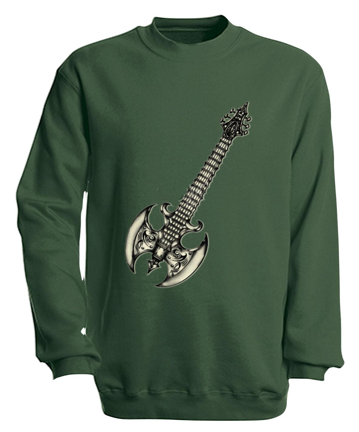 (10252-1 grün) Sweatshirt S M L XL XXL 3XL 4XL Musik Shirts - METALL GITARRE     | Schön und charmant  | Düsseldorf Online Shop  | Meistverkaufte weltweit  | Günstige  | Qualität