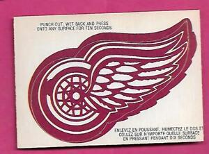RARE-1973-74-OPC-DETROIT-RED-WINGS-LOGO-INSERT-CARD-INV-J0108