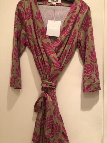 DVF Diane von Furstenberg New Julian Two Mini Wrap Dress US Size  14   $398