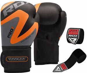 RDX-Leather-Boxing-Gloves-amp-Hand-Wraps-Inner-Bandage-Training-MMA-Punching-Fight