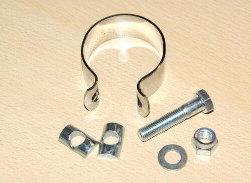 Chrom Schelle Auspuff 1 1//2 Exhaust clip 70-5874 06-1328 82-8975 71-2895 90-3061