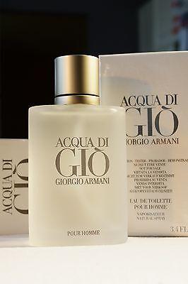 ACQUA DI GIO GIORGIO ARMANI 3.4 oz SPRAY EAU DE TOILETTE 100 ml TESTER-BOX