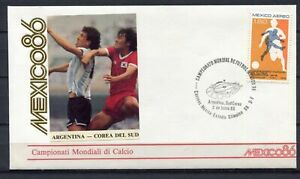 S13551-Mexico-2-6-1986-FDC-Fifa-Wc-Football-Argentina-South-Korea