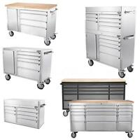Stainless Steel Rolling Tool Storage Tool Chest Box & Garage Work Bench R4u0