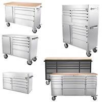 Stainless Steel Rolling Tool Storage Tool Chest Box & Garage Work Bench R4u0