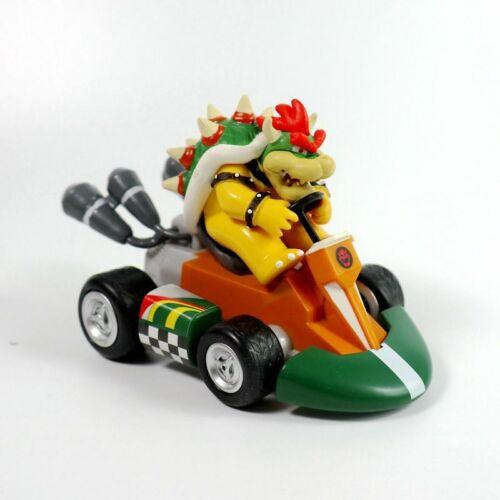 Super Mario Kart Luigi Peach Toad Bowser Pull Back Car Dolls Figure Gift Toys