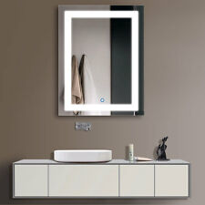 Decoraport Vertical LED Illuminated Lighted Bathroom Wall Mirror W Touch Button