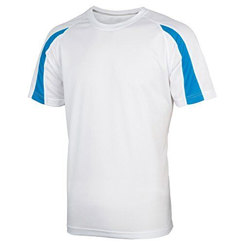 Childrens Boys Girls Kids Contrast Moisture Wicking Performance Athletic T-Shirt