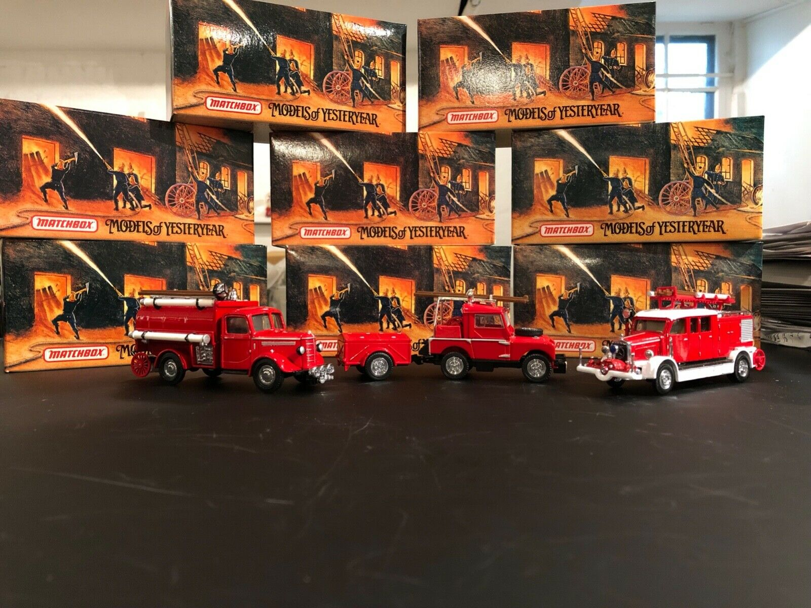 Matchbox Models of Yesterday 12 Piece Fire Engines Series