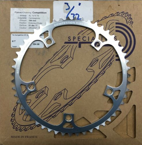 "NEW TA specialities Track Fixie chainrings T6 7075 alloy 1//8/"" and 3//32/"""