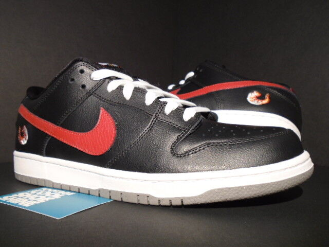 2012 Nike Dunk Faible Premium SB crevette noir rouge blanc poussière 313170-060 12 NEUF