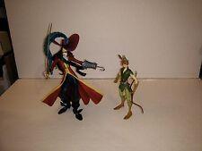 Disney Heroes Captain Hook and Peter Pan figures loose