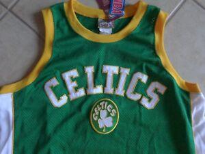 best authentic e4b5b e19ff Details about VINTAGE Boston Celtics Hardwood Classic Mess Jersey Sleeve  Less All Sewn ( XL )