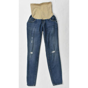 f9de3ecc4f Indigo Blue Maternity Distressed Skinny Jeans SMALL Secret Fit Belly ...