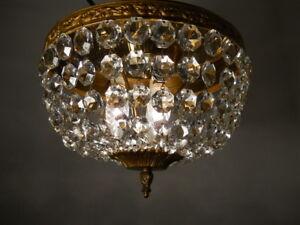 Plafoniere Kristall Antik : Antik alter kronleuchter korb lüster flammig bronze gold