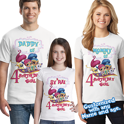 Shimmer And Shine Personalized Birthday Shirt Family Shirts