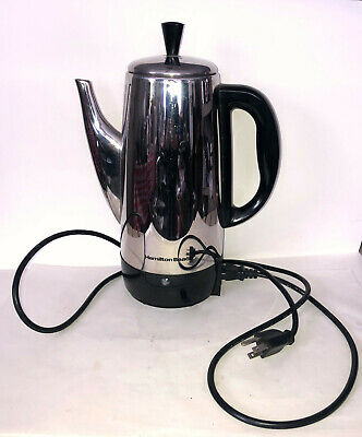 Hamilton Beach Stainless Steel 12 Cup Percolator Coffee Maker Pot Vintage NEW