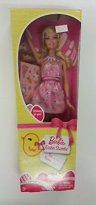 MATTEL BARBIE 2009 DOLL EASTER HOLIDAY SWEETIE WITH STICKERS