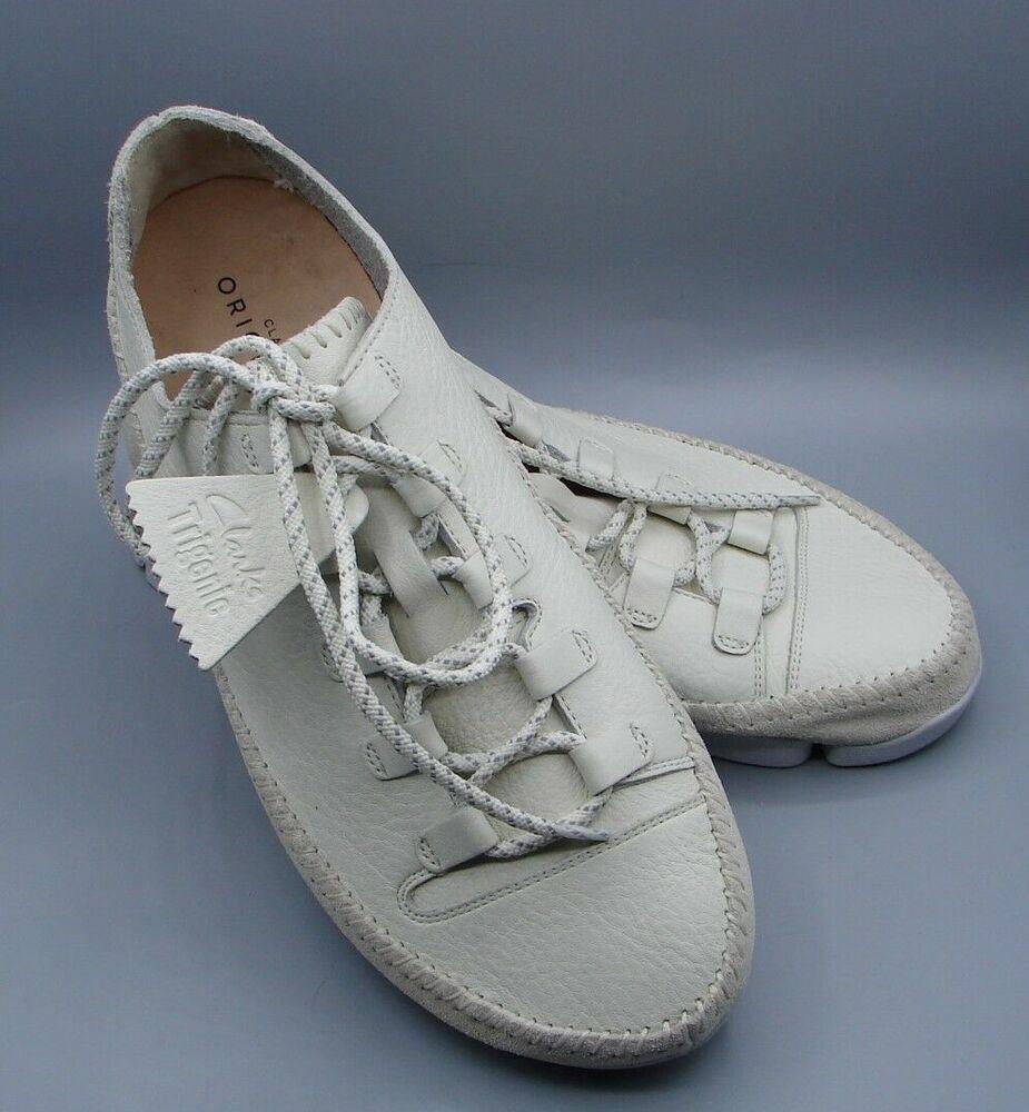 """""""trigenicflex 2"""" Clark's Hommes Blanc Chaussures En Cuir Taille 8.5 G"""