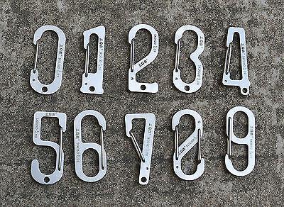 Sanrenmu Number Series Stainless Steel Carabiner SK010D-SK009D(Number 0-9)