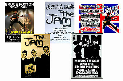 THE JAM - SET OF 5 - A4 POSTER PRINTS # 1