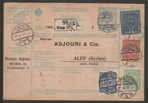 Austria-Sc-146-160-on-1917-10h-uprated-Postal-Card-to-Syria