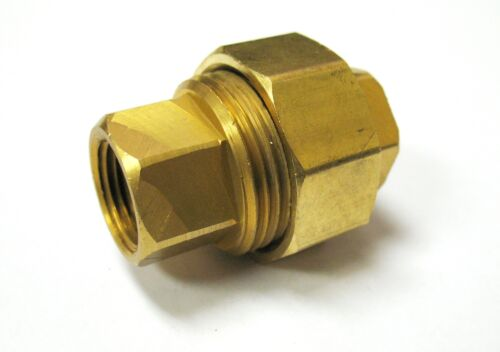 "1pc 3 piece Union Coupling Brass Pipe Fitting 3//8/"" NPT  Air Gas MettleAir 104-C"